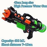 #3: Qpower Summer Kids Toys Pulling Type High Pressure Water Gun Long Range Super Squirt for Children Outdoor & Beach Interactive Toy 600ML