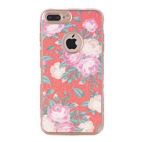 iPhone 7 Weich Hülle, TechCode Blumenmuster TPU Weiche Schale Super Dünn und Leichte Schützender Hülle für Apple iPhone 7 (iPhone 7, A07) A03
