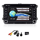 Freeauto Universal Auto 7 Zoll 1080p HD DVD Player GPS Navigation Bluetooth Auto Radio 2 Din Dash Auto PC Stereo Head Unit für VW Volkswagen + vorinstallierte Karte