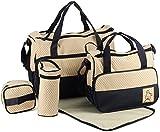 TechnoTec Multi-Function Baby Diaper Nappy Bag/Mummy Changing Set Handbag (Dark Blue)
