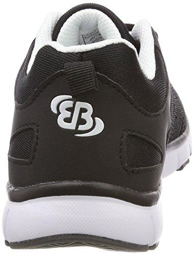 Bruos Cosmos, Chaussures De Sport Basses Unisexes - Noir Adulte (schwarz / Weiss)