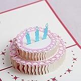 Mumoni Birthday Cards 3D Pop Up Happy Birthday Greeting Card, Birthday Cake Styles With Envelopes(Card Size 15.5 cm By 12.5 cm)