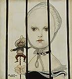 Berkin Arts Leonard Tsuguharu Foujita giclée Stampa su Tela-Dipinti Dipinti Belle Arti Manifesto-Riproduzione Decorazione murale(Ragazza alla Bambola Messicana) #XFB