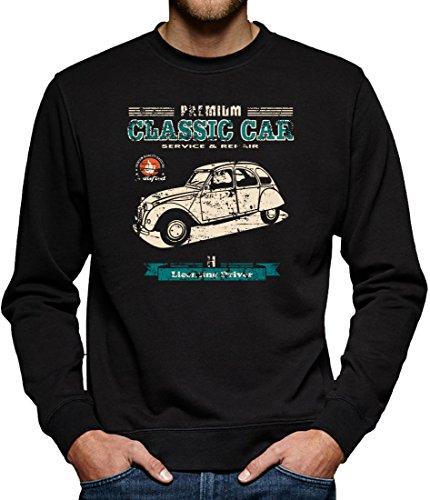 TLM Ente 2CV Sweatshirt Pullover Herren L (Land Cars Kostüme)