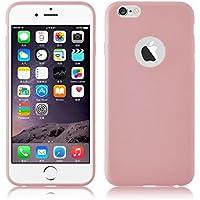 iPhone 6 / 6s Silikonhülle | JAMMYLIZARD Ultra Slim Handyschale 0.8mm Skin Case Hülle [Jelly Back Cover] Schutzhülle aus mattem TPU-Silikon, Rosa Pink