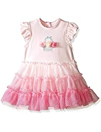 Little Me Baby Girls' Popover Tutu Dress (Pink Multi, 12 months)