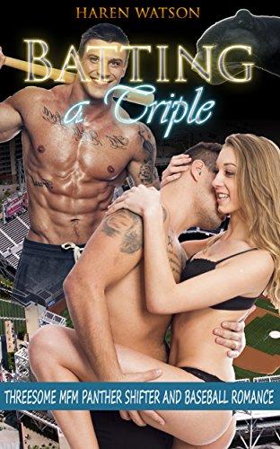 Batting a Triple: Threesome MFM Panther Shifter and Baseball Romance (English Edition)