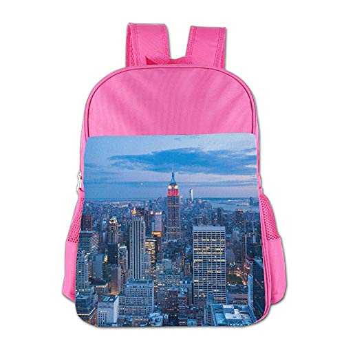 Night View of NYC Children School Backpack Carry Bag for Kids Boys Girls -