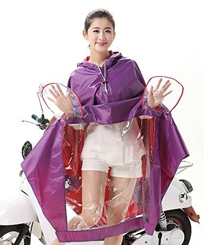 PENGFEI Wasserdichter Regenmantel Wasserdicht Reiten RegenponchoElektro Auto Motorrad Big Hat Eaves Poncho Männer Und Frauen Erwachsene Winddicht atmungsaktiv ( Farbe : 2# , größe : XXXL ) 3#