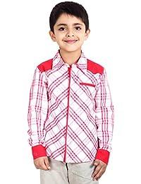 Naughty Ninos Pink Check Full Sleeve Shirt