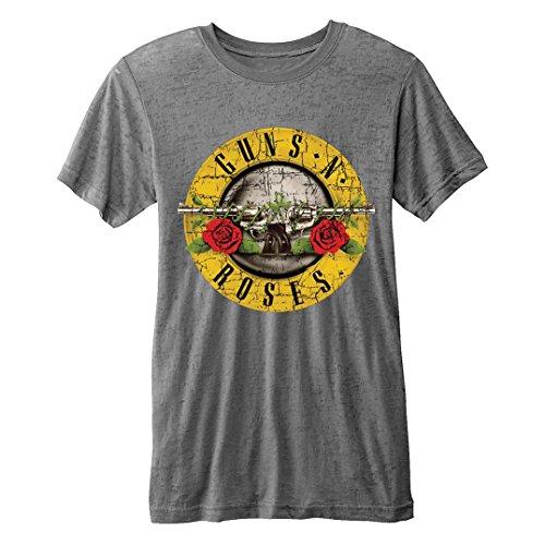 Unbekannt Offizielles T-Shirt Guns N Roses Vintage Distressed Logo Burnout XXL