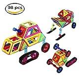 Magnetic Building Blocks 98 Pezzi Blocchi da Costruzione Magnetici Costruzione Giocattolo Magnetic Piece Giocattoli Creativi e Educativi per Bambini