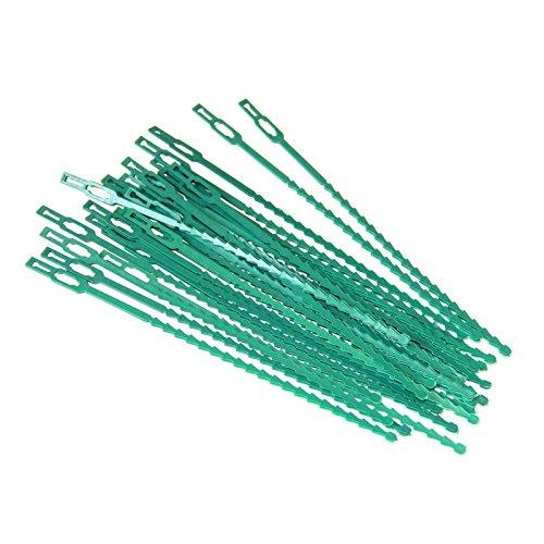 multi-usages réutilisable Plastique Attaches réglables pour plantes (50)