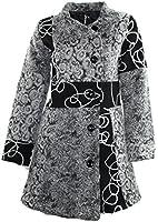 #684 Damen Designer Patchwork Winter Mantel Trenchcoat Wintermantel 36 38 40 42 44 46