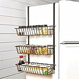 Joo Cremagliera del frigorifero perforata libera del rack della spezia della cucina del frigorifero della cremagli (Colore : #1)