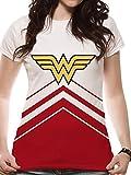 Wonder Woman Cheers Leader Logo T-Shirt, Blanc White, 38 (Taille Fabricant: Medium)...