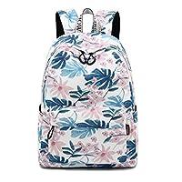 Acmebon Waterproof Bookbag for Girl Women Backpack Purse Fashion Backpack for Teen Pink Flower