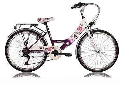 26 Zoll Cityrad Cityfahrrad Mädchenfahrrad Kinderfahrrad Citybike City Fahrrad 6 Gang Shimano STVO DIVA Lila