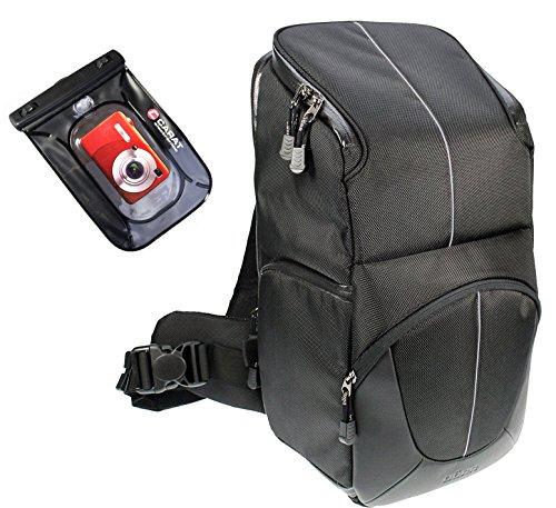 DÖRR Fotorucksack Slingbag Yuma schwarz/Silber mit Set mit Unterwasserbeutel bis 6 Meter Pda-smartphone-standard
