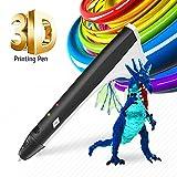 3D Pen Kinder etwas Kritzeln 3D Ausdruck Pen Bleistift Drucker Intelligente PCL PLA Filament Ersatzminen Beste Geschenk für Jugendliche und Kinder M1-Black