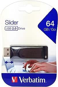 Verbatim Slider Usb Stick Drive 64 Gb I Usb 2 0 I Usb Computer Zubehör