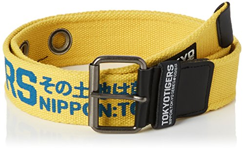 CrossHatch Herren Gürtel Akiko Yellow (Vibrant Yellow)