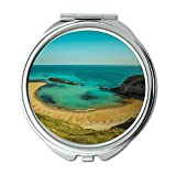 Yanteng Spiegel, Compact Mirror, Strand Klippen Küste, Taschenspiegel, Tragbare Spiegel