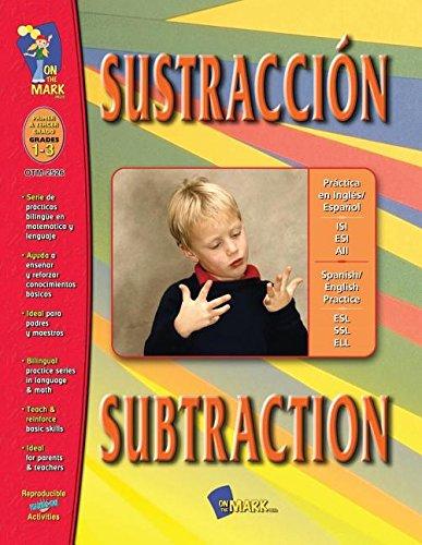 On The Mark Press OTM2526 Sustraccion-Subtraktion - A Bilingual F-higkeit Geb-ude Workbook