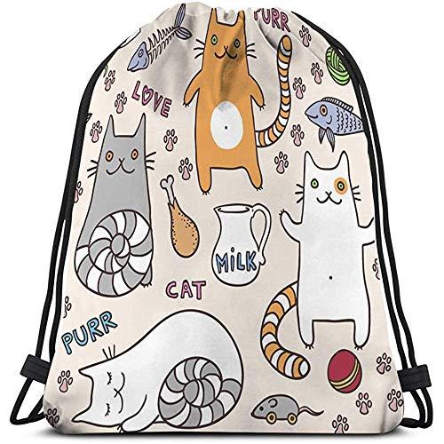 Classic Drawstring Bag Sport Bolsa Almacenamiento