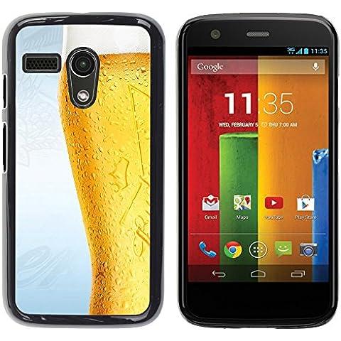 TORNADOCOVER Unico Immagine Rigida Custodia Case Cover Protezione Per SMARTPHONE Motorola Moto G 1 1ST Gen I X1032 - divertente bicchiere di birra gelido