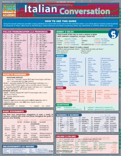 Italian Conversation Laminated Reference Chart (Quick Study Academic)