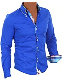 Brandneu !!! Designer Hemd von CARISMA Royalblau CRMH-110 16 weitere Farben