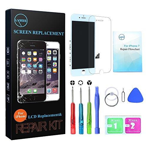 Weiß Touch Screen (Nklglobal Ersatz Bildschirm für iPhone 7 LCD Display Weiß Digitizer Glas Touchscreen mit Werkzeuge)