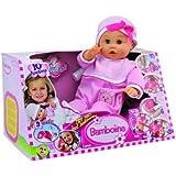 Dimian - Bambolina, muñeca bebé, color rosa y blanco (Claudio Reig BD308PWN)