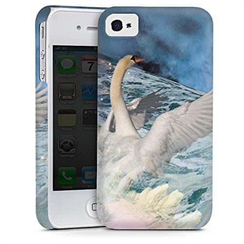 Apple iPhone 6 Housse Étui Silicone Coque Protection Cygne Collage Art Cas Premium mat