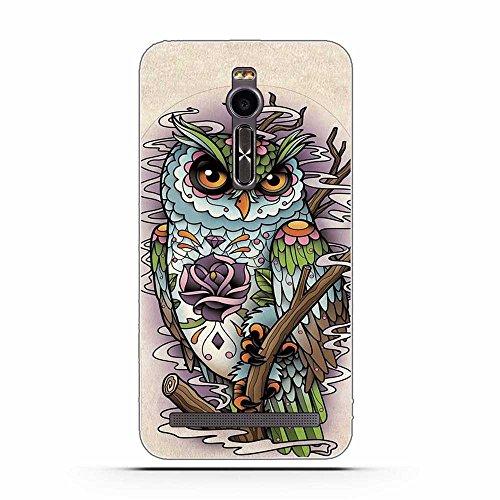 Asus Zenfone 2 ZE551ML Hülle, Fubaoda Cartoon Owl Tigger Lion Künstlerische Malerei-Reihe TPU Case Schutzhülle Silikon Case für Asus Zenfone 2 ZE551ML