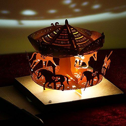 Global brands online christmas 2017honana ht-887led light model diy whirligig biglietto d' auguri di natale brithday gift