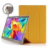 Urcover Kompatibel mit Samsung Galaxy Tab S 10.5 Smart Case Sleeve Sleep/Wake & Stand-Funktion Transparente Rückseite Cover Schutz-Hülle Orange