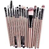 Demarkt 15X Brocha para Maquillaje Set de Herramientas Base Polvo Kit