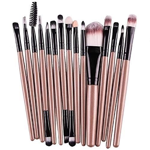Demarkt 15X Brocha Maquillaje Set Herramientas Base