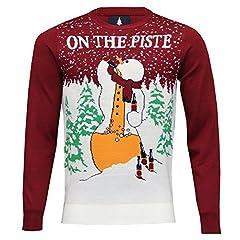 Idea Regalo - uomo Natale maglione Threadbare Albero Di Natale Babbo Natale MAGLIA PUPAZZO DI NEVE Rudolph ELFO NUOVO - Rosso - imx005pka, Medium