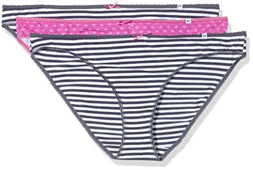 Pretty Polly Damen Taillenslip Alice - 3pp Bikini Mehrfarbig (Pink Heart)