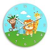 Wanduhr mit Zoo-Motiv für Kinder   Kinderzimmer-Uhr   Kinder-Uhr
