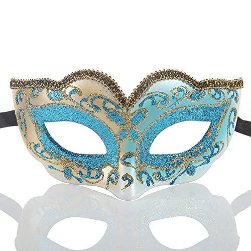 (Story of life Kinder Maskerade Maske Halloween Kostüm Karneval Party Maske Venezianischer Schmetterling Dame,SkyBlue)
