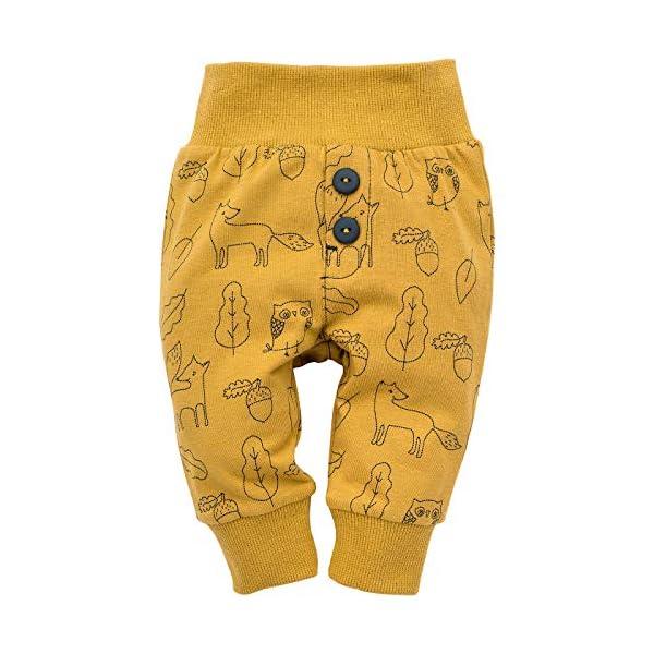 Pinokio - Secret Forest - Bebé Niños Niñas Leggings Unisex Pantalones Amarillo con Estampado 95% Algodón Pants Baby 56… 1