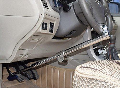Auto Diebstahlsicherung,Lenkrad Anti-Diebstahl-Sperre Universal Security Anti-Diebstahl Heavy Duty Car Lenkrad Lock mit defekten Windows Hammer und 3 Tasten