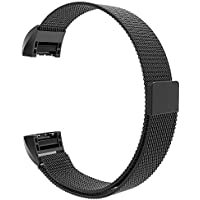 SKYLET Fitbit Charge 2 Bande ,Cinturino in Acciaio Inossidabile Band Loop Milanese con Chiusura Magnetica per Fitbit Charge 2