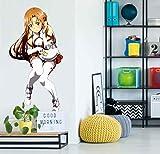 AJ WALLPAPER 3D Sword Art Online-Yuuki Asuna 125 Personaje Juego Papel Tapiz Mural Póster Japonés Animes Pegatina De Pared Papel Tapiz ES Zoe (Vinilo (Autoadhesivo), M:100cmH(39'))