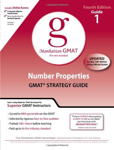 Number Properties GMAT Preparation Guide, 4th Edition (Manhattan GMAT Preparation Guides)