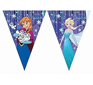 Procos Frozen - Guirnalda de banderines Triangulares, diseño de Copos de Nieve